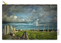 The Train Yard Carry-all Pouch by Linda Unger