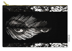 Carry-all Pouch featuring the digital art The Tree Watcher by Nola Lee Kelsey