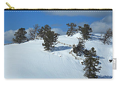 Carry-all Pouch featuring the photograph The Trees Take A Snow Day by Michele Myers