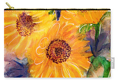 Carry-all Pouch featuring the painting The Trio by Margaret Bobb