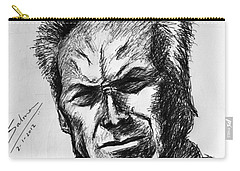 Carry-all Pouch featuring the painting Clint Eastwood by Salman Ravish