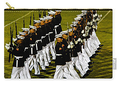 The United States Marine Corps Silent Drill Platoon Carry-all Pouch by Robert Bales