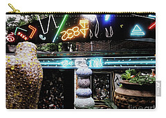 Carry-all Pouch featuring the photograph The Venice Cafe' Outdoor Garden by Kelly Awad