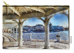 The View From The Boardwalk Gazebo Wdw 02 Photo Art Carry-all Pouch by Thomas Woolworth