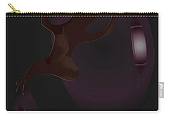 Carry-all Pouch featuring the digital art The Violet Void by Kevin McLaughlin