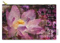 Carry-all Pouch featuring the digital art Those Virgin Lilies - Moore Quote  by Nola Lee Kelsey