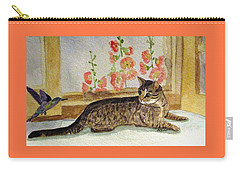 Carry-all Pouch featuring the painting The Visitor by Angela Davies