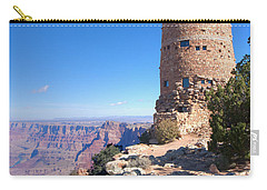 Carry-all Pouch featuring the photograph The Watchtower by John M Bailey