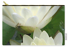 Carry-all Pouch featuring the photograph The Water Lilies Collection - 09 by Pamela Critchlow