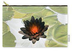 Carry-all Pouch featuring the photograph The Water Lilies Collection - Photopower 1034 by Pamela Critchlow