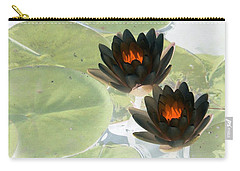 Carry-all Pouch featuring the photograph The Water Lilies Collection - Photopower 1039 by Pamela Critchlow
