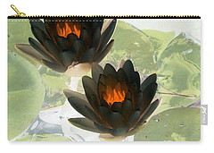 Carry-all Pouch featuring the photograph The Water Lilies Collection - Photopower 1040 by Pamela Critchlow