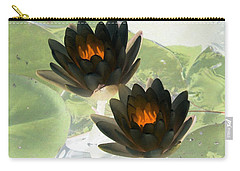 Carry-all Pouch featuring the photograph The Water Lilies Collection - Photopower 1041 by Pamela Critchlow