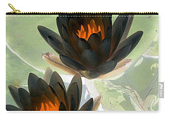 Carry-all Pouch featuring the photograph The Water Lilies Collection - Photopower 1046 by Pamela Critchlow