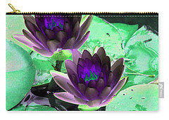Carry-all Pouch featuring the photograph The Water Lilies Collection - Photopower 1119 by Pamela Critchlow