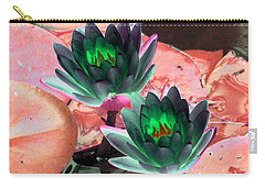Carry-all Pouch featuring the photograph The Water Lilies Collection - Photopower 1120 by Pamela Critchlow