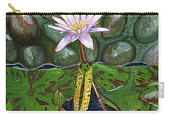 Carry-all Pouch featuring the painting The Waterlily by Laura Forde