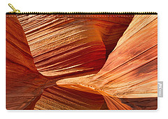Carry-all Pouch featuring the photograph The Wave With Reflection by Jerry Fornarotto