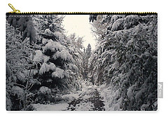 Carry-all Pouch featuring the photograph The Way In Snow by Felicia Tica