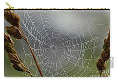 Carry-all Pouch featuring the photograph The Web by Kerri Farley