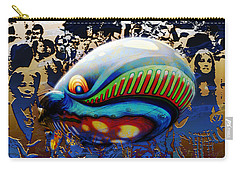 Carry-all Pouch featuring the digital art The Whale Flight by Rosa Cobos