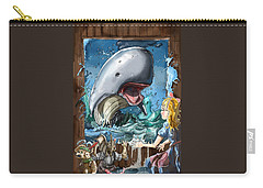 Carry-all Pouch featuring the painting The Whale by Reynold Jay