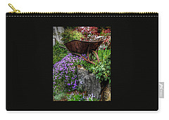 Carry-all Pouch featuring the photograph The Whimsical Wheelbarrow by Thom Zehrfeld