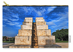 Carry-all Pouch featuring the photograph The White City by Ron Shoshani
