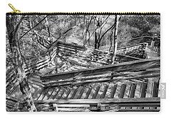 Carry-all Pouch featuring the photograph The Winding Stairs by Howard Salmon