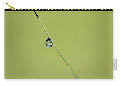 Carry-all Pouch featuring the photograph The World Within A Dewdrop by Penny Meyers