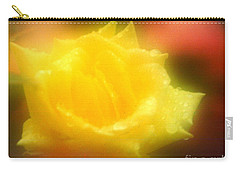 Carry-all Pouch featuring the photograph New Orleans  Yellow Rose Of Tralee by Michael Hoard