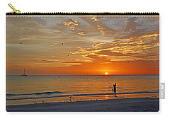 Carry-all Pouch featuring the photograph The Young Fisherman by HH Photography of Florida