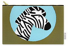 The Zebra Cute Portrait Carry-all Pouch by Florian Rodarte