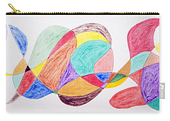 Carry-all Pouch featuring the painting Theme Parks by Stormm Bradshaw