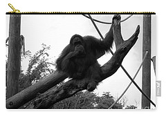 Carry-all Pouch featuring the photograph Thinking Of You Black And White by Joseph Baril