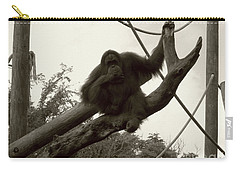 Carry-all Pouch featuring the photograph Thinking Of You Sepia by Joseph Baril
