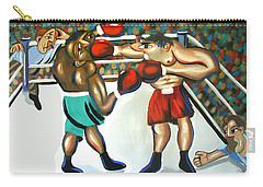 Carry-all Pouch featuring the painting Third Round by Anthony Falbo
