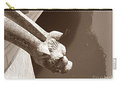 Thirsty Gargoyle - Sepia Carry-all Pouch by HEVi FineArt