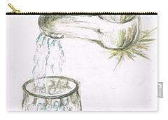 Carry-all Pouch featuring the painting Thirsty Of Water by Teresa White