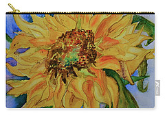 This Here Sunflower Carry-all Pouch by Beverley Harper Tinsley