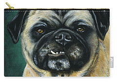 This Is My Happy Face - Pug Dog Painting Carry-all Pouch