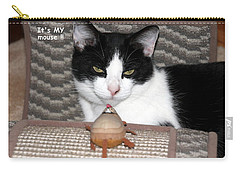 Carry-all Pouch featuring the photograph This Is My Mouse by Laurel Talabere