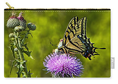 Carry-all Pouch featuring the photograph Thistle Do Just Fine by Gary Holmes