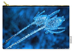 Thistle Plant On Icy Night Carry-all Pouch