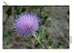 Carry-all Pouch featuring the photograph Thistle by Rod Wiens