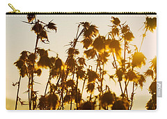 Carry-all Pouch featuring the photograph Thistles In The Sunset by Chevy Fleet