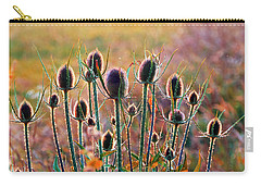 Thistles With Sunset Light Carry-all Pouch