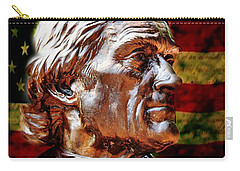Thomas Jefferson Statue  Carry-all Pouch by Judy Palkimas