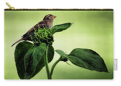 Thoughtful Sparrow Carry-all Pouch