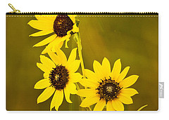 Carry-all Pouch featuring the photograph A Trio Of Black Eyed Susans by Gary Slawsky